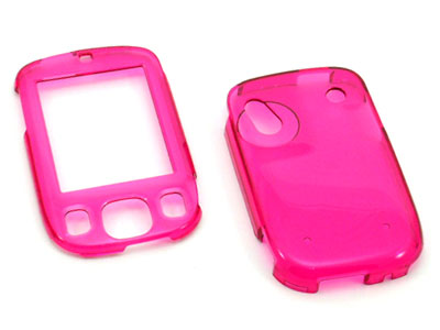 HTC Touch Snap On Faceplate Case (Transparent Hot Pink)