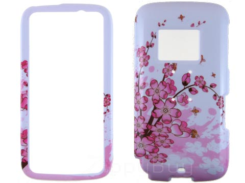 HTC Touch Pro 2 (T-Mobile) Hard Cover Case - Pink Flowers