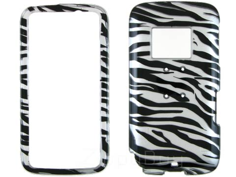 HTC Touch Pro 2 (T-Mobile) Hard Cover Case - Silver Zebra