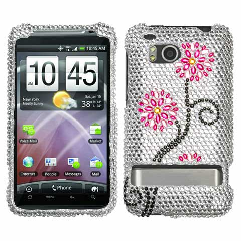 Blossom Crystal Rhinestones Bling Case for HTC ThunderBolt