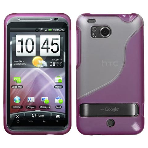 Pink and Frost Gummy Case for HTC TunderBolt