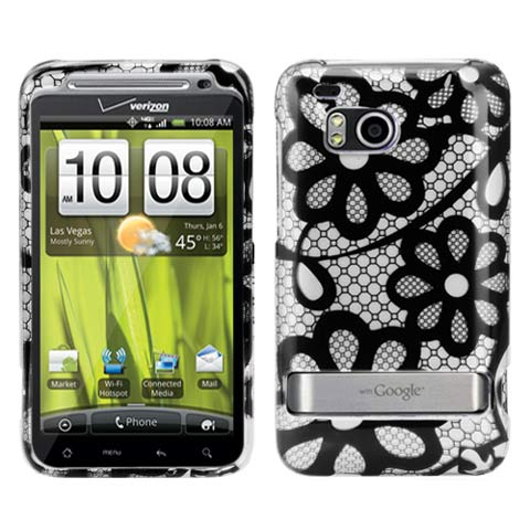 Black Lace Hard Case for HTC ThunderBolt 4G