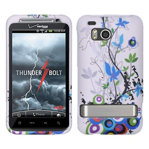Flourish Rubberized Hard Case for HTC ThunderBolt 4G