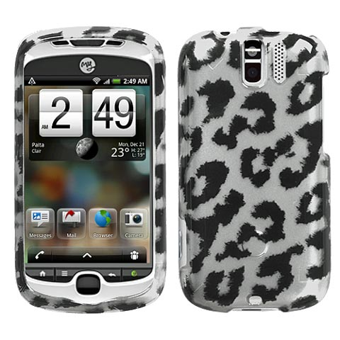 Silver Leopard Hard Case for HTC myTouch 3G Slide