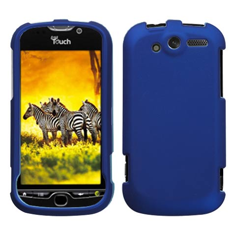 Blue Rubberized Hard Case for HTC myTouch 4G