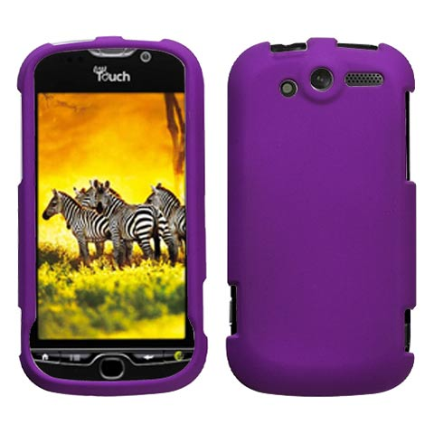 Purple Rubberized Hard Case for HTC myTouch 4G