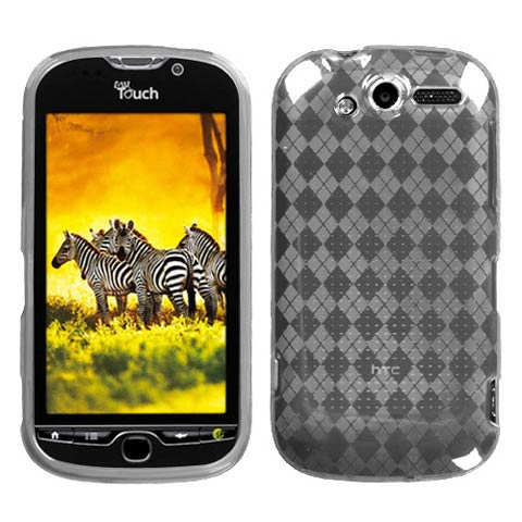Frost White Argyle TPU Case for HTC myTouch 4G