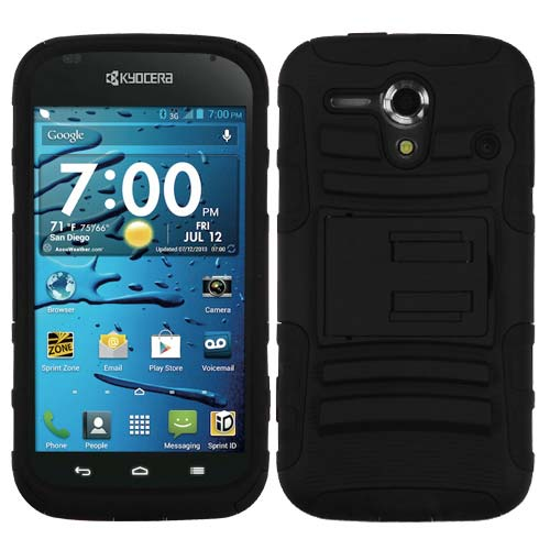 Black Armor Dual Layer Hybrid Case for Kyocera Hydro Edge