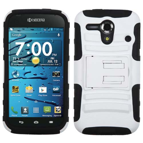 White Armor Dual Layer Hybrid Case for Kyocera Hydro Edge