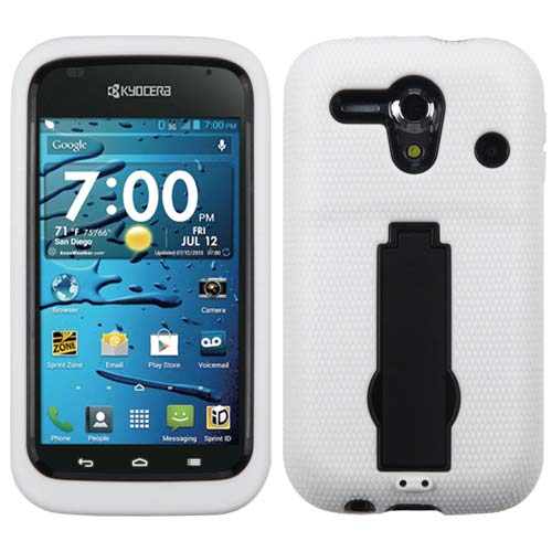 White Symbiosis Dual Layer Hybrid Case for Kyocera Hydro Edge