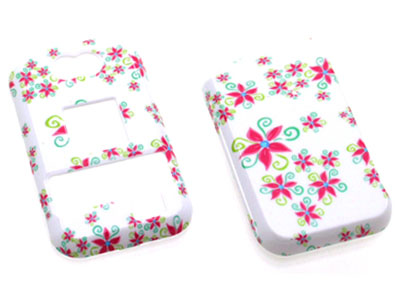 Kyocera Tempo E2000 Snap On Faceplate Case (Funky Flowers)