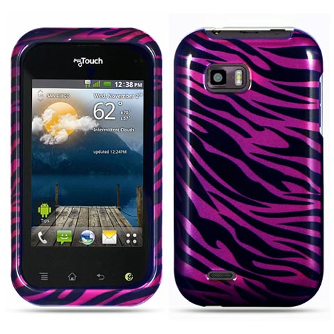 Purple Zebra Hard Case for LG T-Mobile myTouch Q