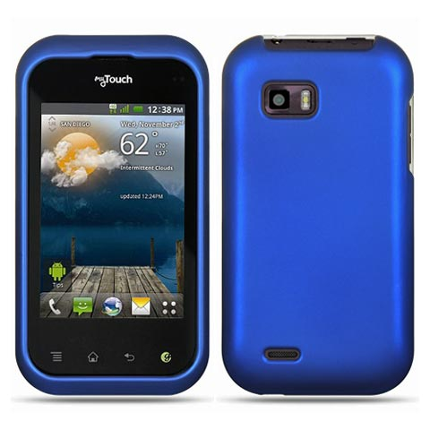 Blue Rubberized Hard Case for LG T-Mobile myTouch Q