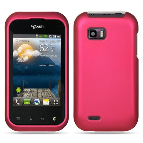 Hot Pink Rubberized Hard Case for LG T-Mobile myTouch Q