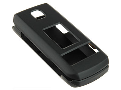 LG TRAX CU575 Rubberized Snap On Faceplate Case (Black)