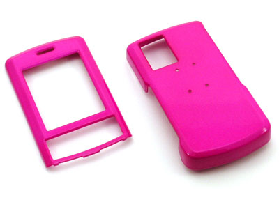LG Shine CU720 Snap On Faceplate Case (Hot Pink)