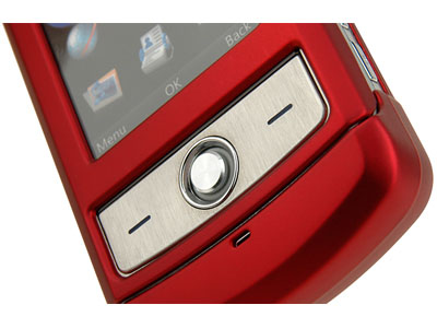 LG Shine CU720 Rubberized Snap-On Faceplate Case (Red)