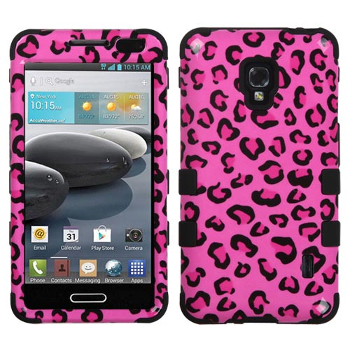 Pink Leopard Synergy Hybrid Case for LG Optimus F6