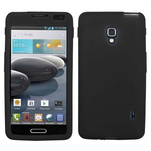 Black Silicone Cover for LG Optimus F6