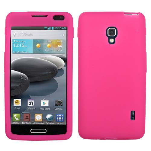 Hot Pink Silicone Cover for LG Optimus F6