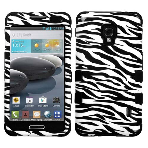 Zebra Synergy Hybrid Case for LG Optimus F6