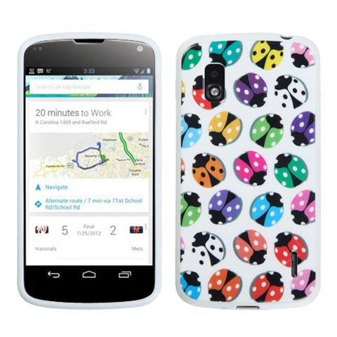 Ladybugs TPU Case for LG Nexus 4