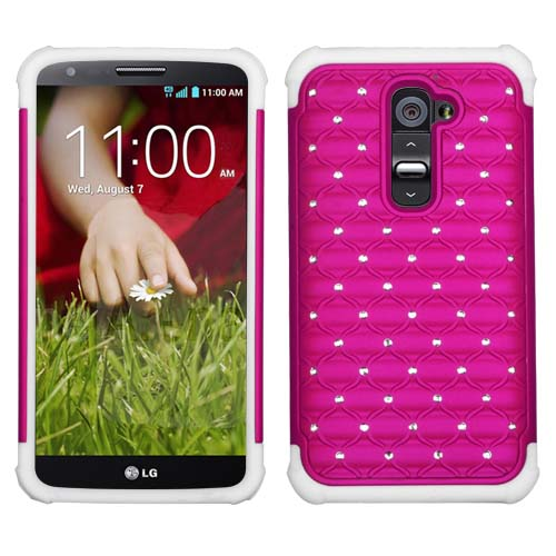 Pink Dazzler Defense Dual Layer Hybrid Case for LG G2