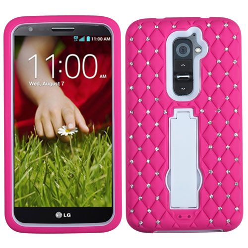 Pink Diamond Symbiosis Dual Layer Hybrid Case for LG G2