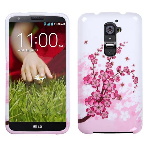Pink Flowers Hard Case for LG G2