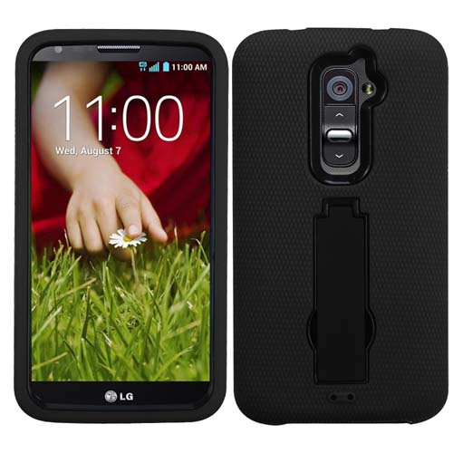 Black Symbiosis Dual Layer Hybrid Case for LG G2