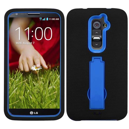 Black on Blue Symbiosis Dual Layer Hybrid Case for LG G2