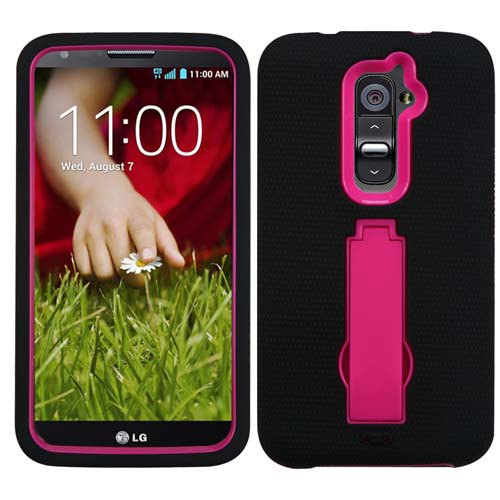 Black on Pink Symbiosis Dual Layer Hybrid Case for LG G2