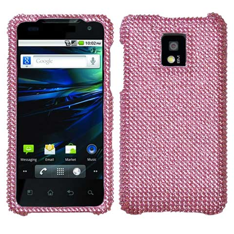 Pink Crystal Rhinestones Bling Case for LG G2x