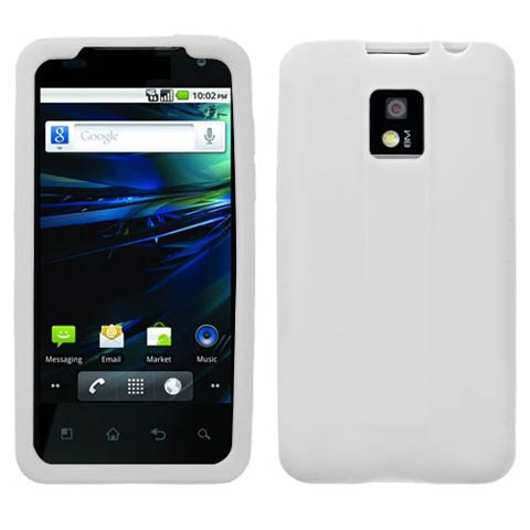 Frost White Silicone Skin Cover for LG G2x