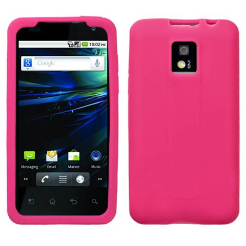 Pink Silicone Skin Cover for LG G2x