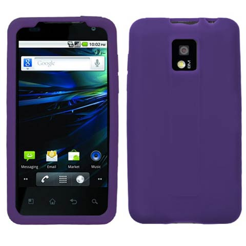 Purple Silicone Skin Cover for LG G2x