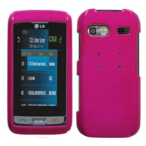 Hot Pink Hard Case for LG Vu Plus
