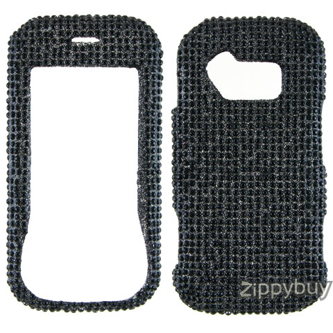 LG Neon GT365 Full Rhinestones Bling Hard Case - Black