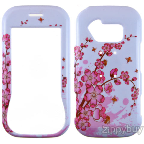 LG Neon GT365 Hard Cover Case - Pink Flowers