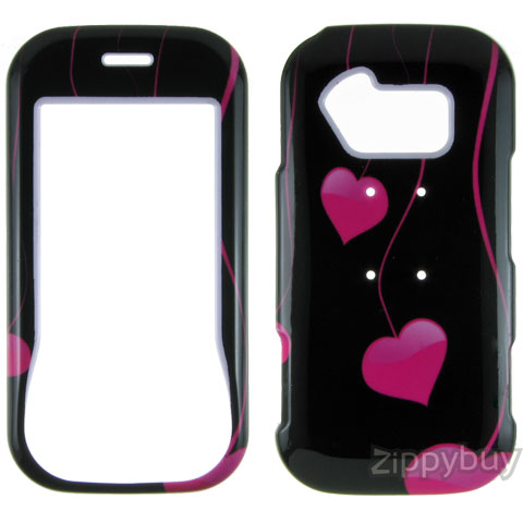 LG Neon GT365 Hard Cover Case - Pink Hearts