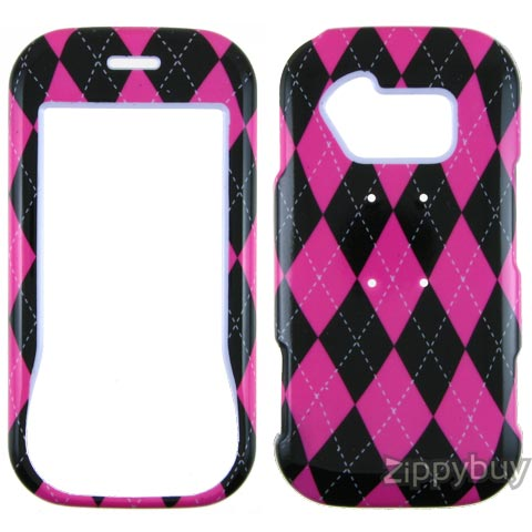 LG Neon GT365 Hard Cover Case - Pink Argyle