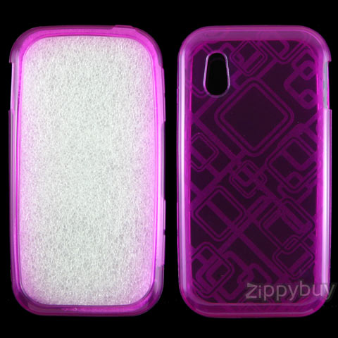 LG Arena Candy Shell Case - Hot Pink Squares