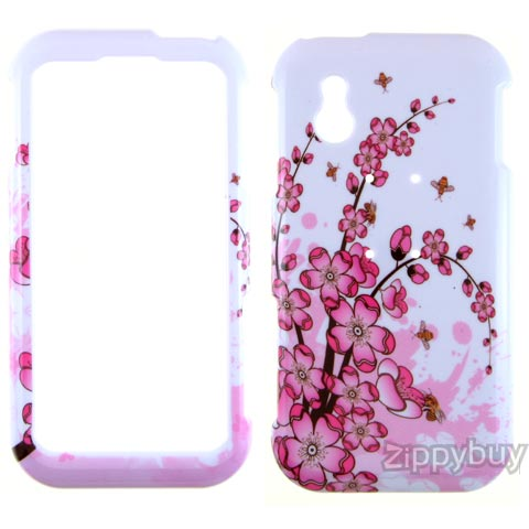 LG Arena Hard Cover Case - Pink Flowers