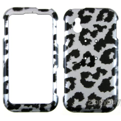 LG Arena Hard Cover Case - Silver Leopard