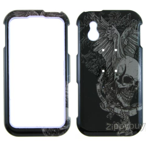 LG Arena Hard Cover Case - Skull Wings