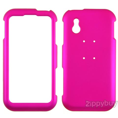 LG Arena Rubberized Hard Cover Case - Hot Pink