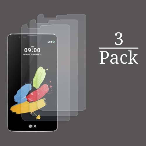 3x Multi-Pack Crystal Clear Screen Protectors for LG Stylus 2