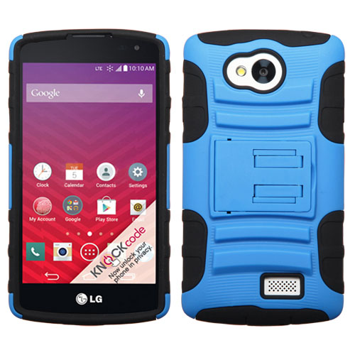 Blue Armor Dual Layer Hybrid Case for LG Tribute
