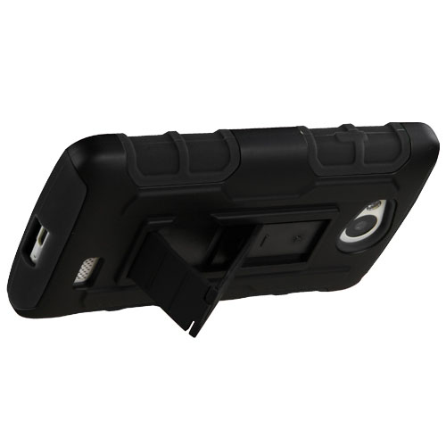 Black Lightspeed Dual Layer Hybrid Case for LG Tribute