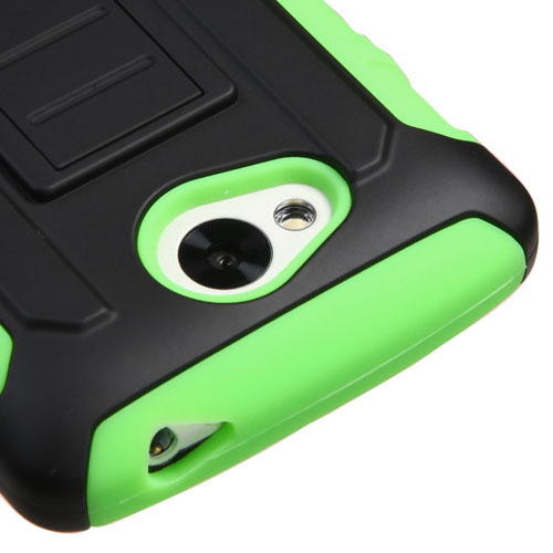 Green Lightspeed Dual Layer Hybrid Case for LG Tribute
